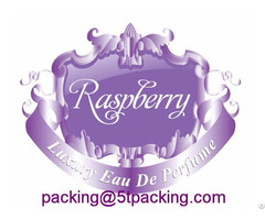 Raspberry Purple Embossed Luxury Perfume Bottle Labels