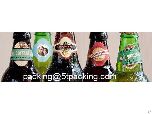 Personalized Oval Shape Glass Beer Bottle Used Printed Adhesive Label Manufacturer