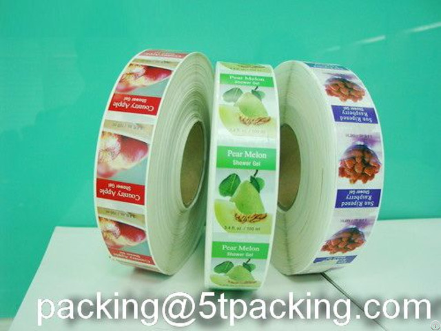 Green And Healthy Plastic Adhesive Labels For Fruits Sales Promotion