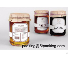 Dustless And Healthy Honey Bottle Use Plastic Adhesive Labels