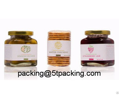 Food Level Strawberry Jam Bottle Used Plastic Adhesive Labels