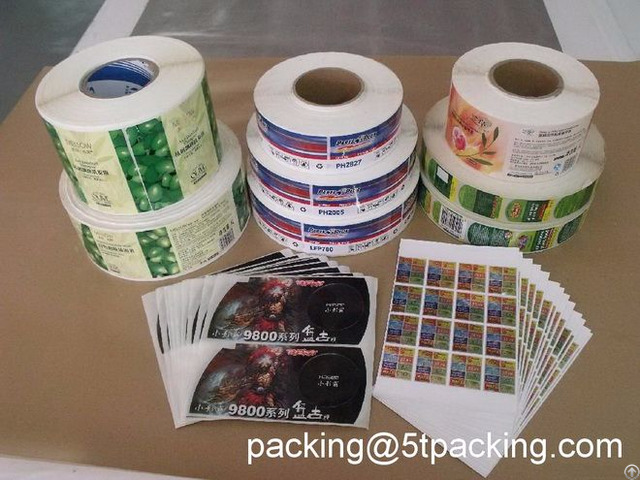Gravure Printing Plastic Adhesive Labels For Mass Production