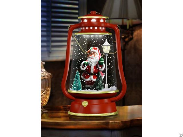 Snowing Christmas Barn Lanterns