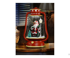 Snowing Christmas Barn Lanterns