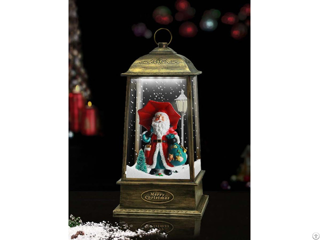 Tabletop Hanging Snowing Lantern