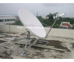 Alignsat 1 8m Fiber Glass Flyaway Antenna