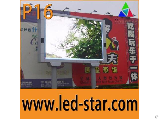 Fullcolor P16 Outdoor Led Display Screens Advertising Board