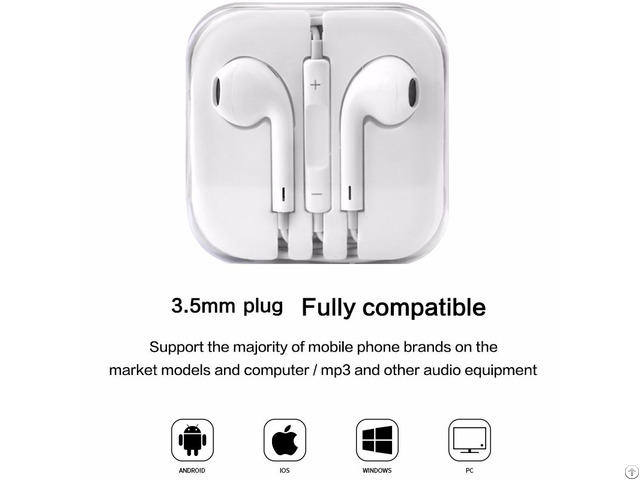 Earphones Headphones Portable 3 5mm In Ear Earbuds With Mic Volume Control For Xiaomi Goophone