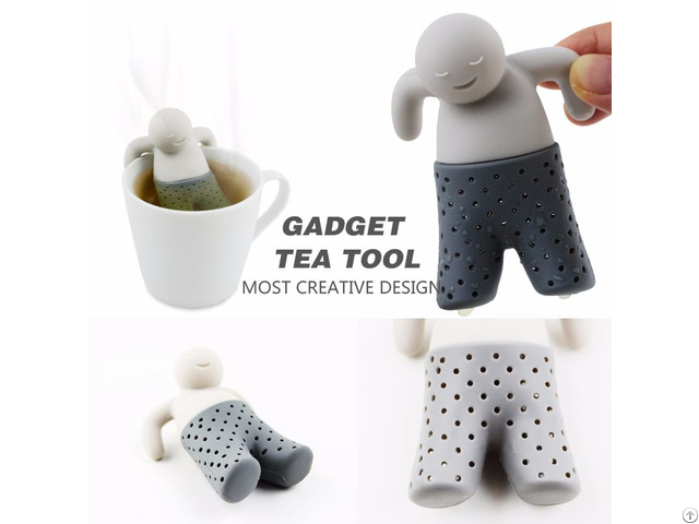 Food Grade Silicone Mr Tea Infuser Strainer