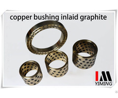 Self Lubricating Bearings Copper Bushing Inlaid With Graphite Oilless Parts