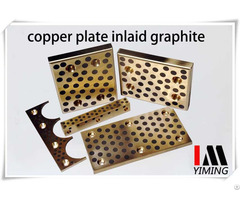 Self Lubricating Plate Copper Guide Inlaid With Graphite Oilless Liner And Parts
