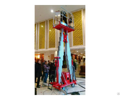Double Masts Aerial Work Platform Cmp 12