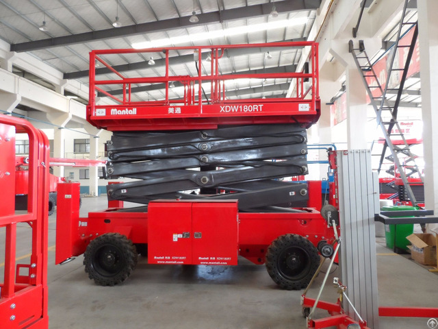 Self Propelled Rough Terrain Scissor Lift Xdw180rt
