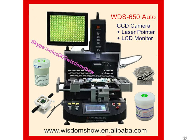 Low Price Laptop Chips Reballing Machine Wds 650 Ccd Camera Bga Rework Station