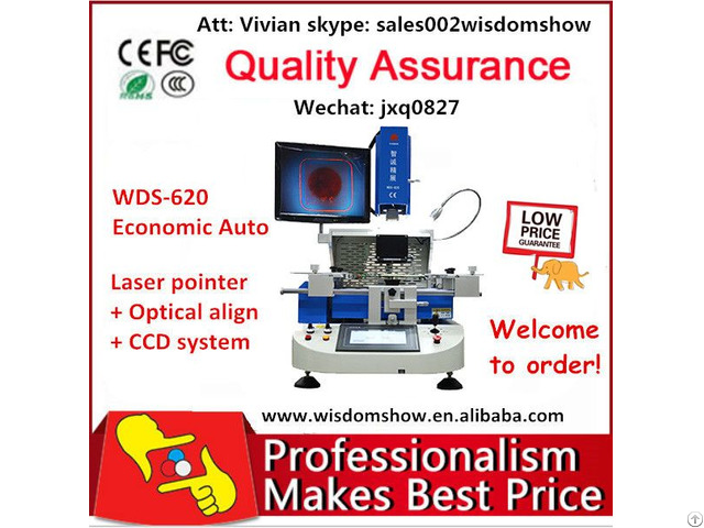 Optical Alignment Bga Rework Station Wds 620 For Laptop Mobile Phone Ps4