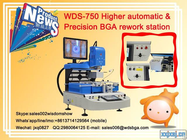 Higher Automatic Bga Rework Station Wds 750 Computer Chipset Repair Machine