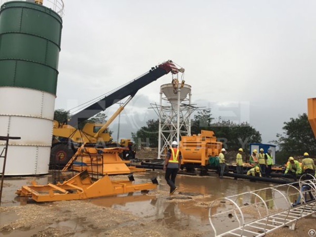 Yhzs50 Mobile Batching Plant