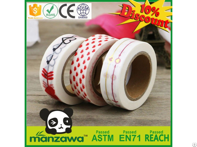 Manzawa Decorate Japanese Washi Masking Tape