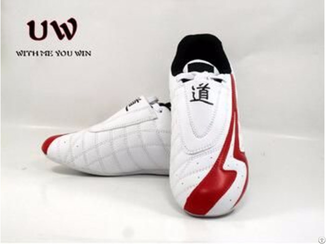Uwin New Discipline Martial Arts Shoes White And Red Tkd Tae Kwon Do
