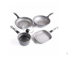 Infinistone Cookware Fry Pan Skillet Wok Pot