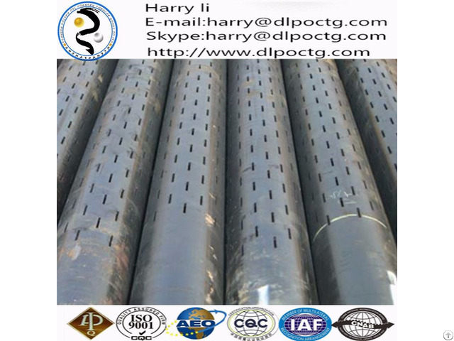 Dalipu Supply Oil Perforated Tube Slotted Pipe