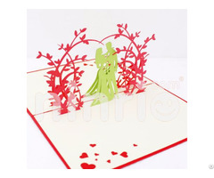 Sweet Wedding 3d Pop Up Card