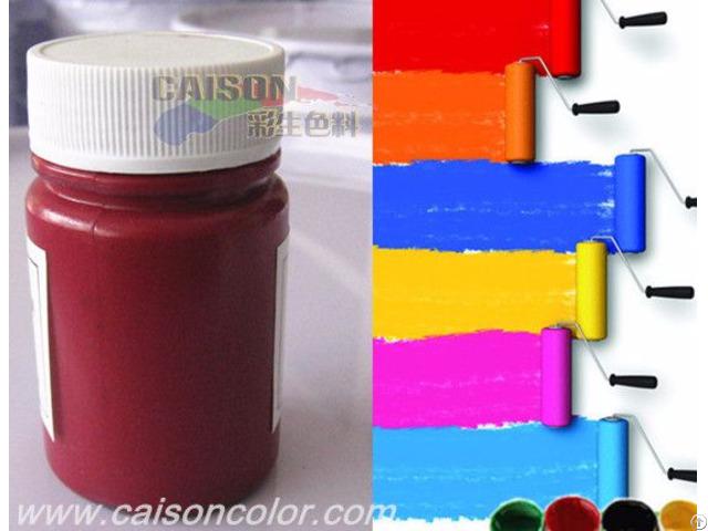 Pigment Paste In Low Temperature Condition