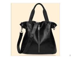 Latest Hot Selling Black Gennine Leather Lady Handbag