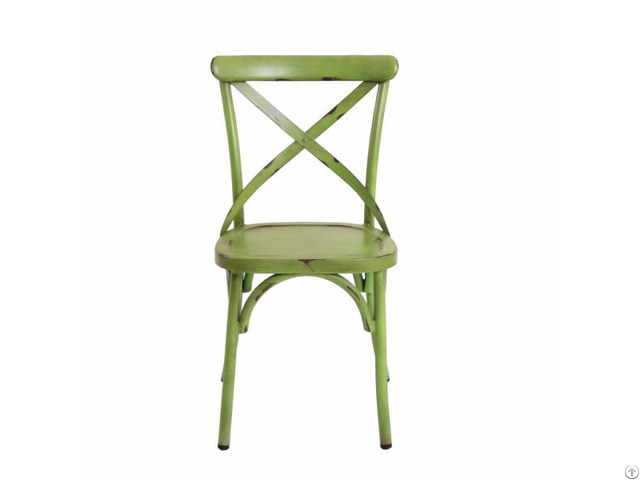 Heavy Duty X Cross Back Dining Chairs