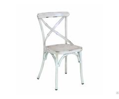 Vintage Industrial Cross Back Chair