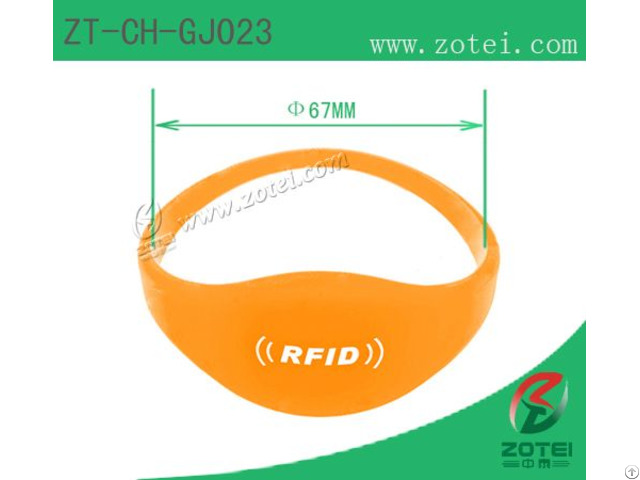Oblate Rfid Silicone Wristband