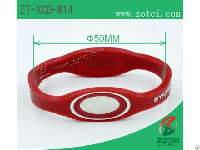 Anti Counterfeit Dual Ended Silicone Wristband