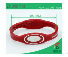 Anti Counterfeit Dual Ended Silicone Wristband