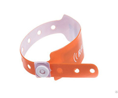 Rfid One Time Pvc Wristband Tag