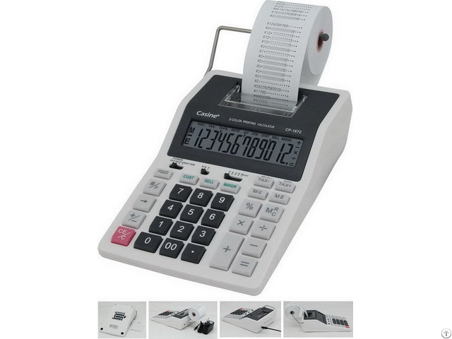 Printing Calculator With 2 Color Print