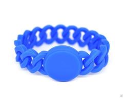 Rfid Braid Silicone Wristband Tag