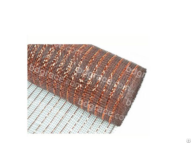 21inch 10yard Dark Brown Decoration Material Plastic Strip Mesh For 50c19