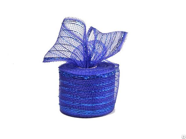 10y Royal Blue Strip Poly Wholesale Deco Mesh Roll For 50c18r2 5
