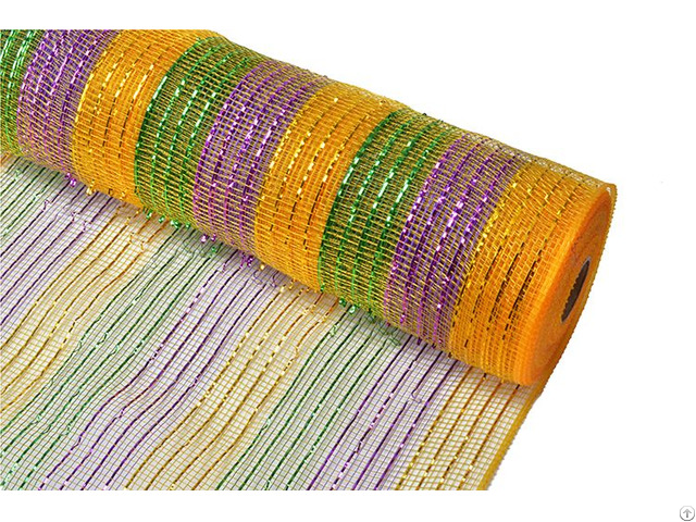 10yard Purple Orange Black Stripe Christmas Decorative Mesh For 70c09i12i20x20