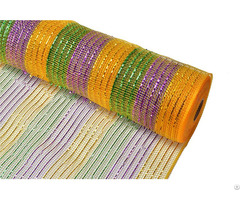 10yard Purple Orange Black Stripe Christmas Decorative Mesh For 70c09i12i20x20