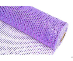 "21"" 10y Light Purple Strip Pp Wraps Mesh For Flowers 100c08"