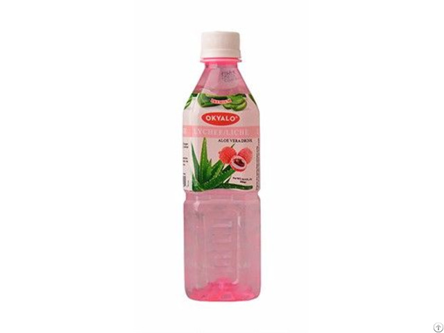 Okyalo Wholesale 500ml Aloe Vera Juice Drink With Lychee Flavor