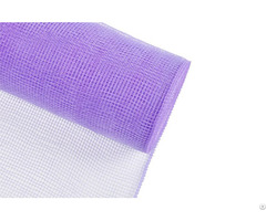 "6"" 10y Light Purple Festival Gift Packing Plastic Solid Mesh For A08r6"