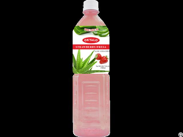 Okyalo Wholesale 1 5l Aloe Vera Juice Drink With Strawberry Flavor