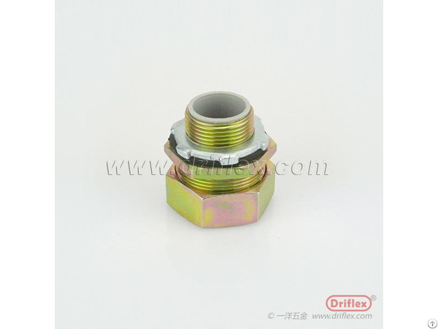 Colour Zinc Plated Steel Connector Straight