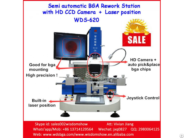 Wds 620 Rework Pc Station Low Cost Bga Chip Desoldering And Soldering Machine
