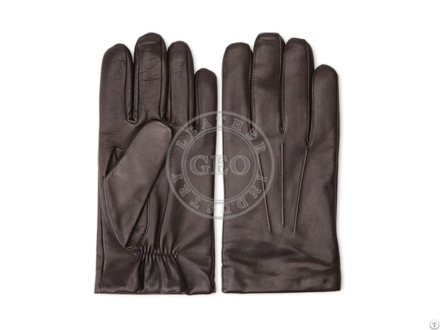 Men Fashion Winter Leather Gloves