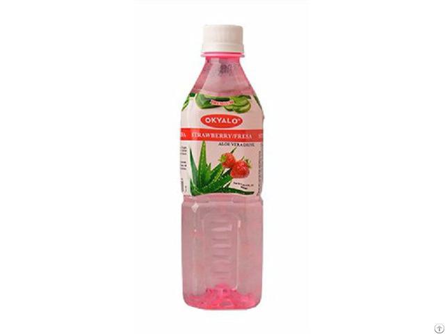 Okyalo 500ml Raw Aloe Vera Drink With Strawberry Flavor Okeyfood