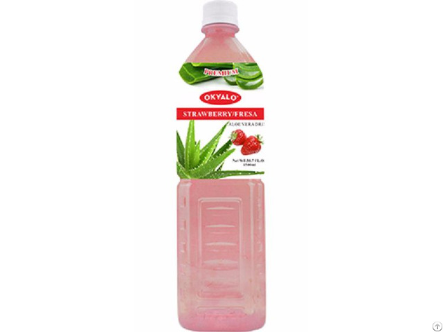 Okyalo 1 5l Raw Aloe Vera Drink With Strawberry Flavor Okeyfood