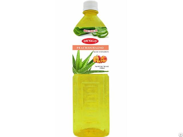 Okyalo 1 5l Raw Aloe Vera Drink With Peach Flavor Okeyfood